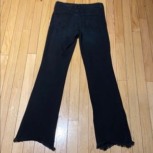 Woman's Rewash High Rise Dark Flare Jeans 27